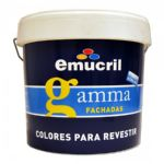 BIDON PINTURA EMUCRIL GAMMA FACHADAS AMARILLO MEDITERRANEO 5051 12 LT